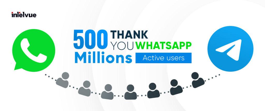 Telegram Passed 500 Million Active users Threshold