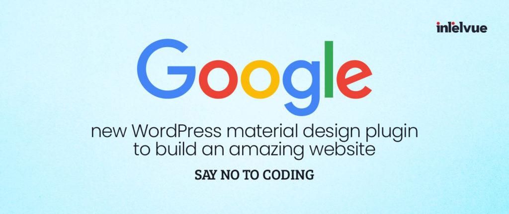 New WordPress material design plugin