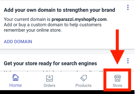 how to change shopify store name on mobile app