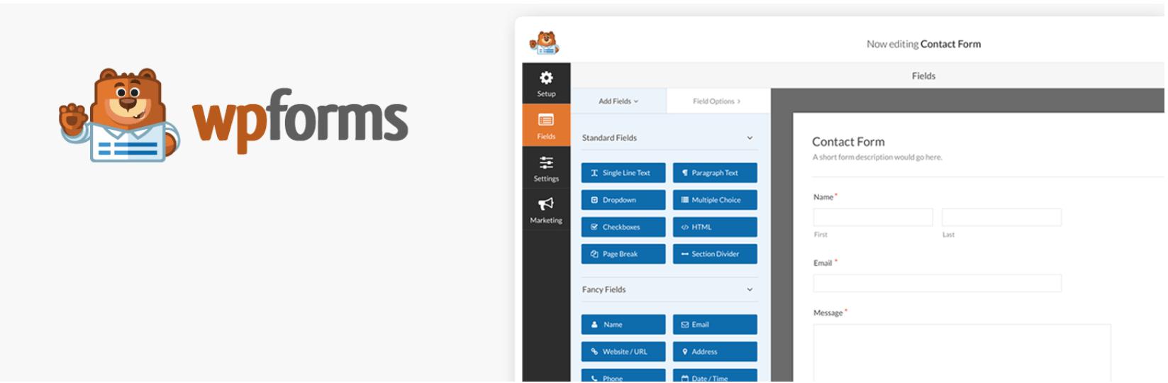 wpforms is a WordPress plugin for business websites