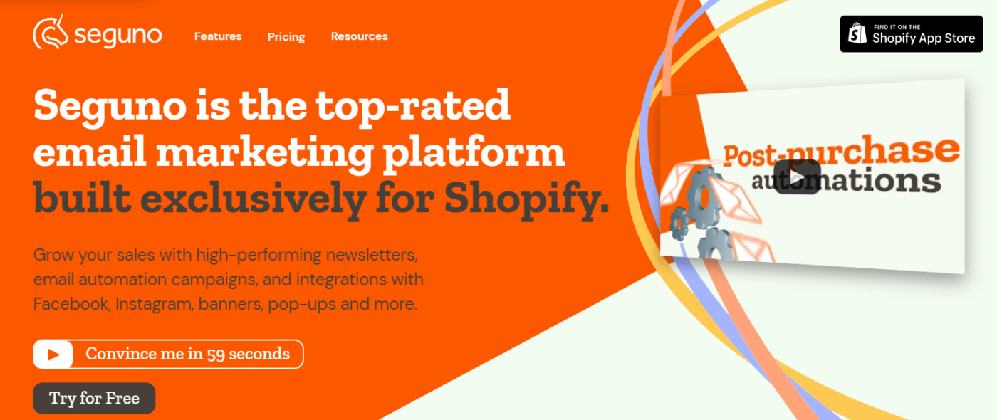 Seguno is the best Shopify Email Marketing Automation Software