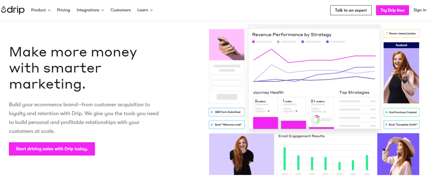 drip email marketing platform for ecommerce business
