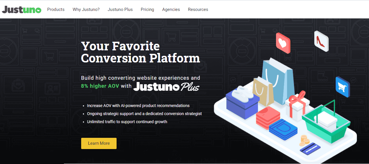 justuno free email marketing app shopify